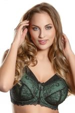 Sara Soft UW Cotton Bra Black Olive