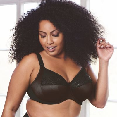 Goddess Sarah Low UW Banded Bra Black Underwired, non-padded banded bra 75-105, E-N GD6020-BLK