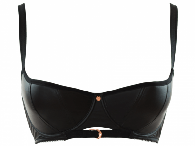 Scantilly by Curvy Kate Unleash Half Cup Bra Black Wetlook  65-85, DD-HH ST2601
