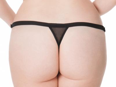 Unleash Thong Black Wetlook