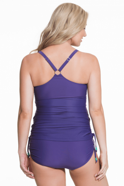 Shake Maternity 2 piece Tankini + Brief Set Purple
