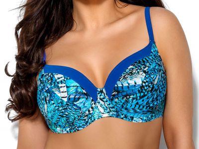 Skye Bikini Bra Blue Feather