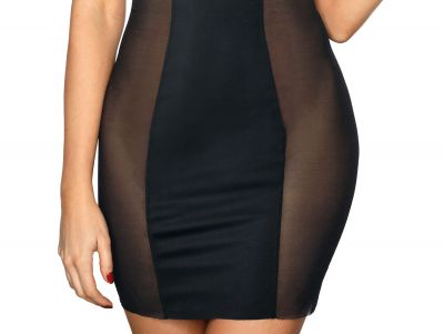 Bella Misteria Soft Touch Slip Dress Black Cupless slip dress with soft shaping S/36 - 3XL/46 BM-6-HA-10-CZA