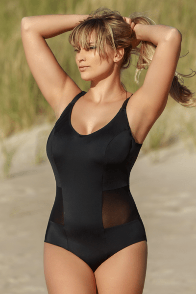 Solid Swimsuit Black