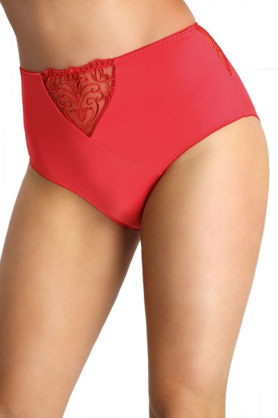 Nessa Sonata High Waist Briefs Red  S-5XL SON-N02-RED