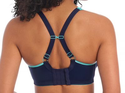 Freya Active Sonic UW Moulded Sports Bra Nightshade Underwired spacer foam padded sports bra with convertible straps 65-90, D-K AC4892-NIE