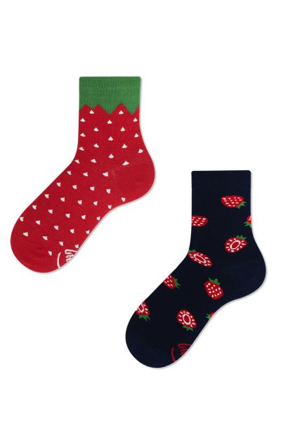 Many Mornings  Strawberries Kids Socks 1 pair  23-26, 27-30, 31-34 K6