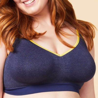 Cake Maternity  Sugar Candy Crush Seamless Soft Everyday Bra Denim Wirefree, seamless everyday bra XS-XXL (65-100, G-L) 28-8008-43