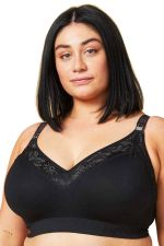 Sugar Candy Lux Seamless Nursing Bra Black