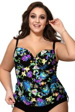 Blue Tropical UW Padded Tankini