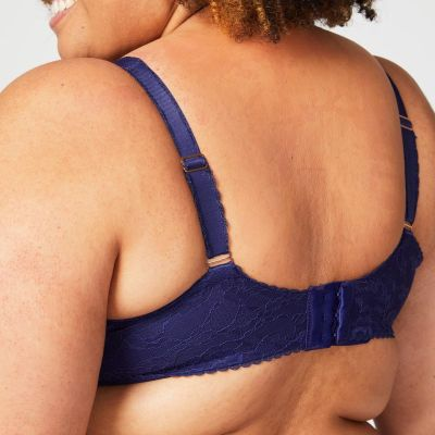 Cake Maternity  Tea Non Wired Full Cup Nursing Bra Navy Non-wired lace detailed drop cup nursing bra 70-95, E-L 21-1035-25