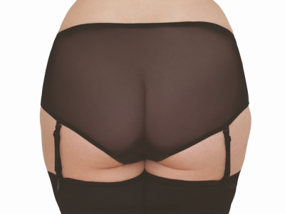 Tease Suspender Short Black Pink