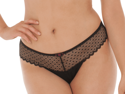 Trixie Thong Black Mulberry