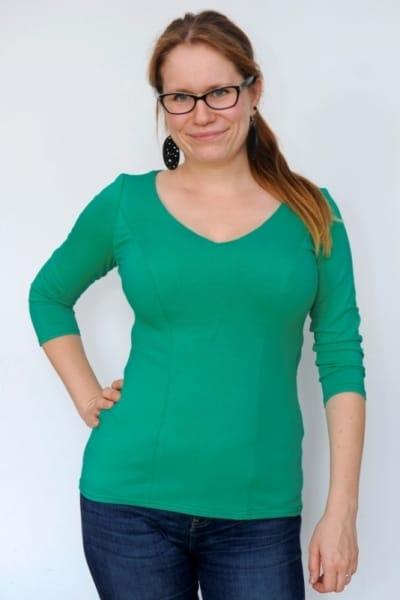 Veka Top 3/4 Sleeved Emerald Green