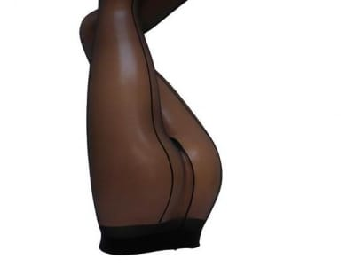 Vienna Pantyhose with Back Seam Black 16 den
