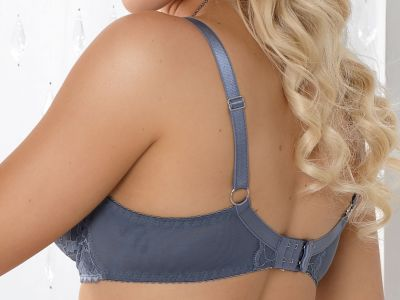 Nessa Vincenta Lace Bra Grey Underwired, soft, full cup bra 60-95, D-L N065-517-GREY