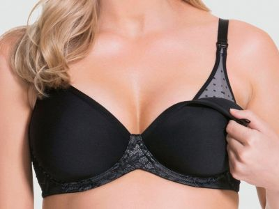 Waffles UW 3D Spacer Nursing Bra Black