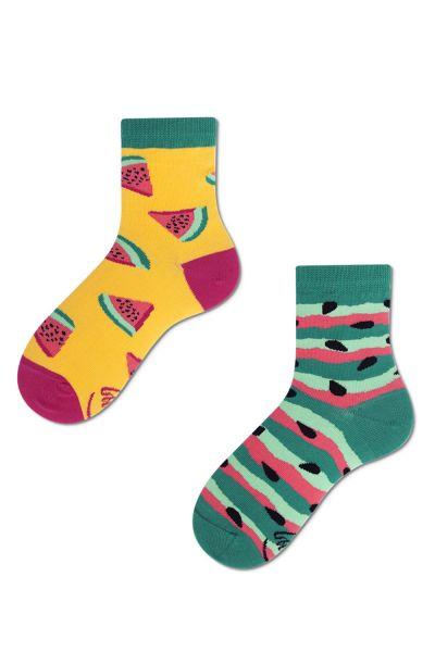Many Mornings  Watermelon Splash Kids Socks 1 pair  23-26, 27-30, 31-34 K4