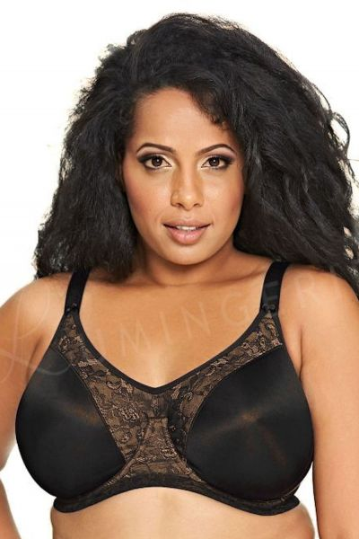 Yvette Banded Underwired Bra Black