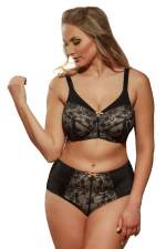 Zara Cotton Bra Black Beige
