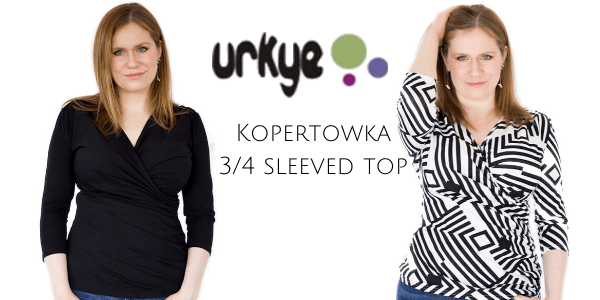 Urkye Kopertowka 3/4 sleeved top - available styles: Zig Zag, Black